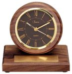 American Walnut Round Clock with Pen Sales Awards