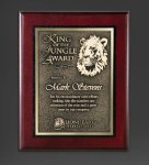 Cherry Finished Panel and Gold Tone Plate Sales Awards